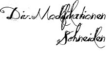 Div. Modifikationen - Schneiden